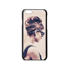 Audrey Hepburn Breakfast at Tiffany's Pose Cover for iPhone 6 (44 AUD) ❤ liked on Polyvore featuring accessories and tech accessories