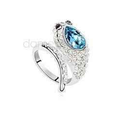 Legierung Kristall Ring lieblischer wie Oval