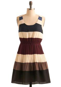 Drop a Line Dress | Mod Retro Vintage Printed Dresses | ModCloth.com