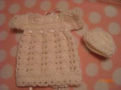 Preemie Angel Dress and Hat free crochet pattern
