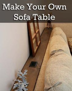 Sofa Table with an outlet!