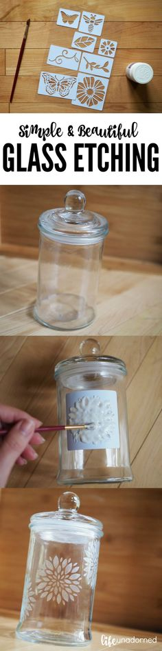 How To: Simple and Beautiful Glass Etching Tutorial Project DIY