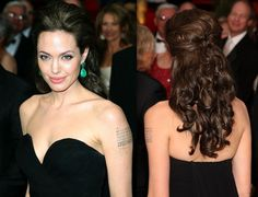 Angelina Jolie, who turned heads at the Oscars with this romantic hairstyle