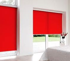 Red blinds add pop to any window