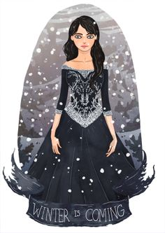 Lyanna Stark. Lovely Illustrations That Pay Tribute To The Ladies Of 'Game Of Thrones'  By Thia Shi Min, 17 Mar 2014 COMMENT  SHARE  Share on Facebook   T...