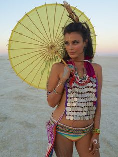 Make yourself a nice, big necklace/breastplate. What more do you need at Burning Man?