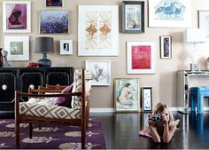 Angie Hranowsky via Oh So Beautiful | gallery wall