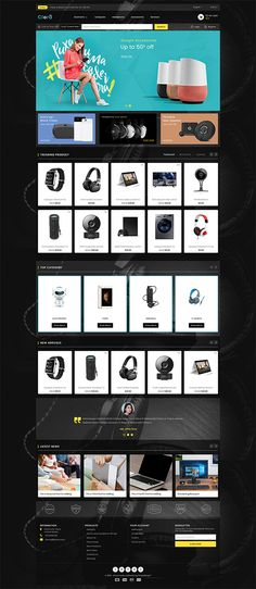 Clora - The Electronics Store Template is a good choice for selling Ecommerce Website Design, Website Design Layout, Web Design, Design Ideas, Computer Theme, Best Shopify Themes, Ecommerce Template, Branding Your Business, Photoshop