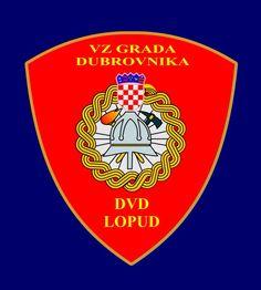 Dobrovoljno vatrogasno društvo Lopud amblem -  Lopud Volunteer Fire Brigade emblem