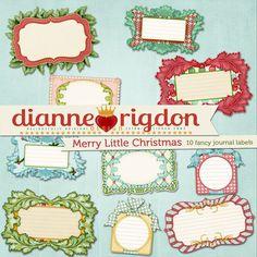Cozy Retro Mod Christmas Embellishments  by DianneRigdonDesign