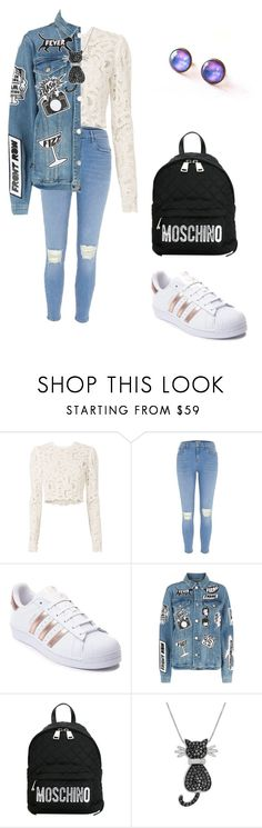 """Bored"" by alexandra-ilas ❤ liked on Polyvore featuring A.L.C., adidas, Frame, Moschino and Amanda Rose Collection"