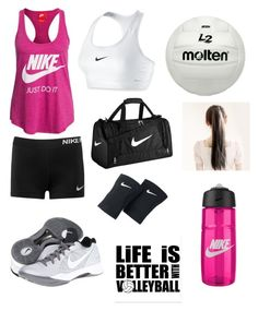 """Volleyball practice"" by maddiew2202 ❤ liked on Polyvore featuring NIKE"
