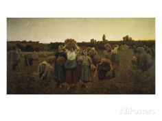 Calling in the Gleaners (Le Rappel Des Glaneuses), 1859 Giclee Print by Jules Breton at AllPosters.com