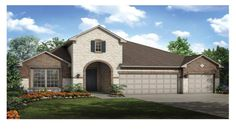 Windsor Elevation A by Taylor Morrison at Crystal Falls Mesa Oaks. $348K/2706 sq ft/