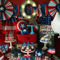 Captain America Party   CatchMyParty.com
