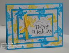 Birthday Pinwheel Layers by stampinshauna - Cards and Paper Crafts at Splitcoaststampers. Use Grunge stamp