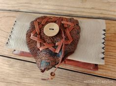Your place to buy and sell all things handmade Geometric Star, Deerskin, Coconut Shell, Star Shape, Leather Cord, Pouches, Hand Stitching, Upcycle, My Etsy Shop