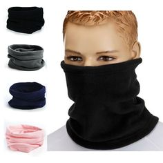 Unisex Face Mask Beanie Hats Winter Warmer Thermal Fleece Snood Neck Scarf New Mens Beanie Hats, Men's Beanies, Ski Wear, Scarf Hat, Mens Fleece, Winter Warmers, Polar Fleece, Neck Scarves, Neck Warmer