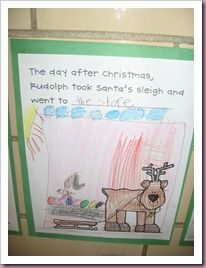 Where Did Rudolph Go? writing idea