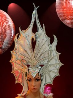 Brazilian Butterfly Showgirl's Headdress With Rhinestones $570.00