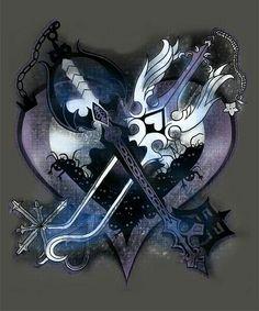Oathkeeper and oblivion kingdom hearts keyblade