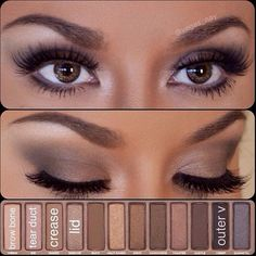 very simple eye makeup using the Urban Decay Palette 1