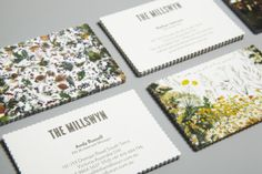 scallop edge business cards for The Millswyn #graphic #design #inspiration