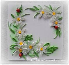 quilled flowers card