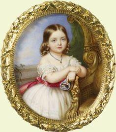 Victoria, Princess Royal, (Queen Victorias daughter) Guglielmo Faija, 1844. Photo: Royal Collection.