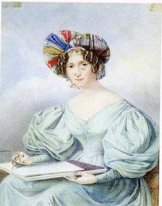 Hortense de Beauharnais was a talented artist. Romantic Period, Clothing And Textile, Natural Scenery, Portraits, Queen, Diamond Cuts, Boy Or Girl, Vans, Glamour