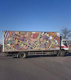 Aryz in Spain, 2017, street art mobile