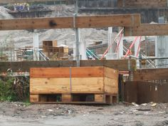 big wooden crate
