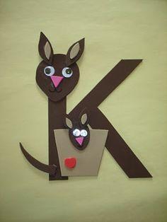 cute ideas for All letters. kangaroo, quail, mouse, snake, penguin