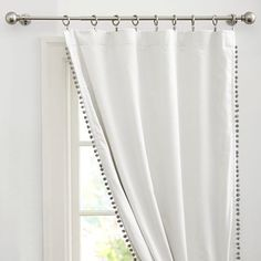Pom Pom curtains for