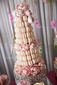 Macaron wedding cake madness, Ooh la la! These tempting wedding cakes are more adorable and amazing than ever with heavenly cakes from Leyara Cakes, including multi-tiered goodness!