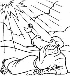 Saul Paul Bible Coloring Pages