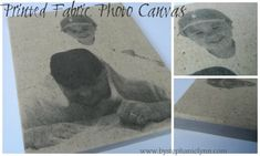 Under The Table and Dreaming: Make Your Own Printed Fabric Photo Canvas {Easy Father's Day Gift}