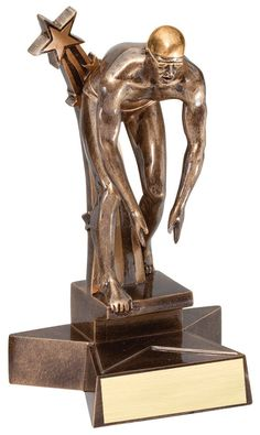 """Male Swimming Trophy - 8.5"""" Super Star Resin"""