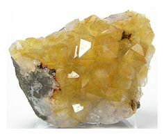 Yellow Citrine Colored Quartz Crystal Cluster by FenderMinerals,