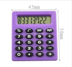 [Visit to Buy] 1pcs Boutique Stationery Small Square Calculator Personalized Mini Candy Color School & Office Electronics Creative Calculator #Advertisement