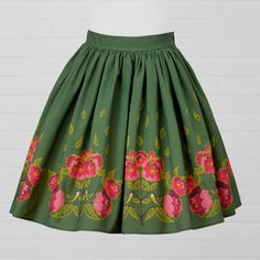 Chickadee bird and Peony flower cotton skirt, one of our four main designs for Diva Bara 2017 collection. Cotton Skirt, Cotton Fabric, Sassy Girl, Pink Peonies, Green Cotton, Girls Out, Fabric Design, Diva, Style Inspiration