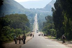road from Awassa to Addis Ababa, Ethiopia (Would need to travel this to see Mihret's family.)