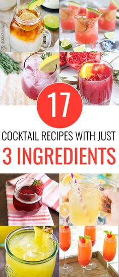 17 Cocktail Recipes With Only 3 Ingredients - Love and Marriage Sweet Cocktails, Easy Cocktails, Cocktail Recipes With Vodka, Cocktail Drinks, Popular Cocktails, Liquor Drinks, Cocktail Ideas, Whiskey Cocktails, Easy Mixed Drinks