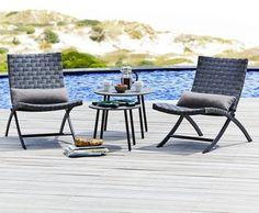 Pöytä TOREKOV Ø55cm + 2 tuolia ELVERUM #terassi #parveke #garden