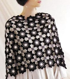 Crochet Shawls: Crochet Patterns Of Chic Shawl for Women