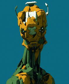 4 robots by Ivan Laliashvili on ArtStation.