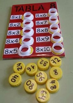 Interactive multiplication math Could change to be more difficult, addition, division, or subtraction. This is a fun way to help with multiplication. This is a and concrete lesson. Math Games, Preschool Activities, Student Games, Subtraction Activities, Counting Activities, Word Games, Math For Kids, Crafts For Kids, Math Multiplication