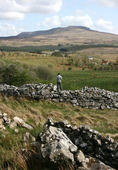 Walking in West Cavan in the Geopark, Ireland