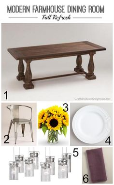 Modern Farmhouse dining room mood board