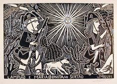 J. Miguel, Lampião and Maria Bonita. Lampião is a bandit from the beginning of the twentieth century in Northeastern Brazil. His fame acquired almost mythical proportions and he is a frequent subject of woodcuts.